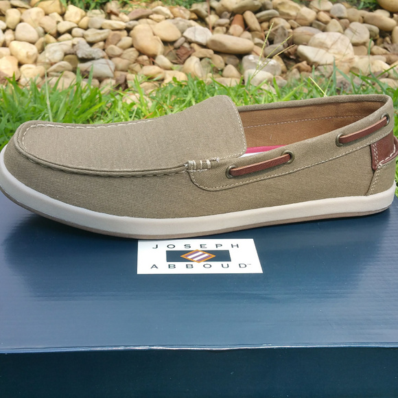 f59fe2d5773 Joseph Abboud Ivan Tan Canvas slipon Boat Shoes 11